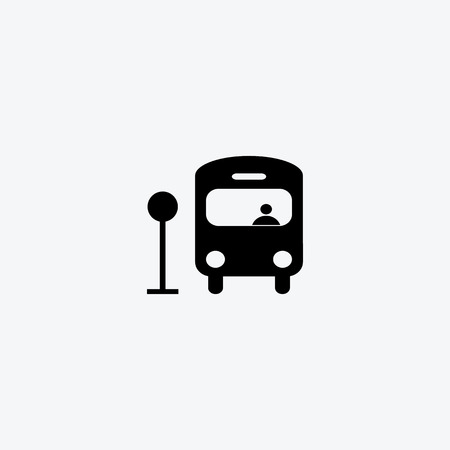 Bus symbol , illustration vector for used Vector