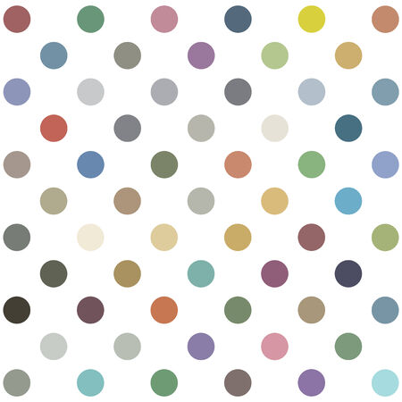 youthful: Seamless retro inspired youthful polka dot pattern in candy colors