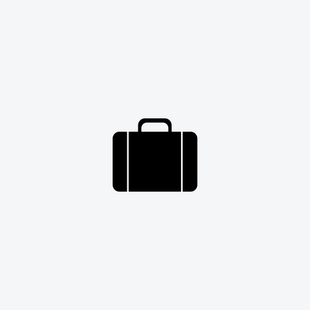 black briefcase: Vector black briefcase icons