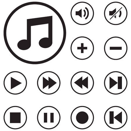 vcr: Modern media icons , vector for use.