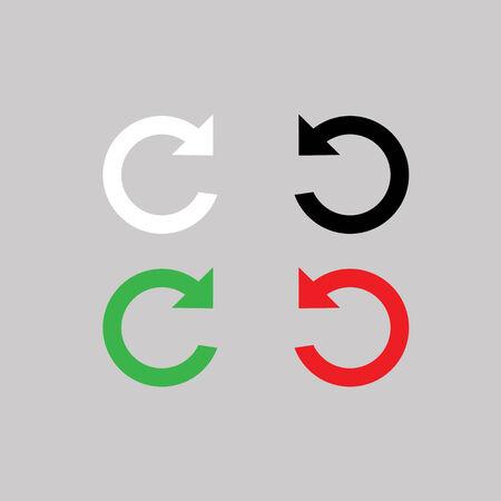 reviser: refaire et d�faire symbole sur fond gris Illustration