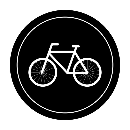 bicycle design over beige background vector illustration