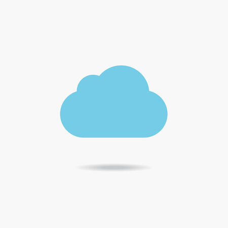 blue clouds: Blue clouds. Collection of cloud icons. Vector illustration Illustration