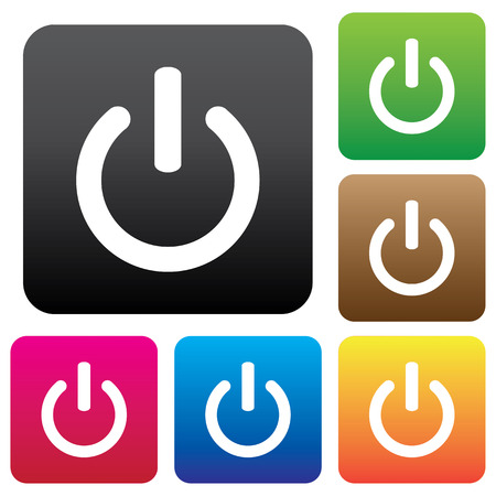On Off switch icon set for web, internet, mobile apps. Vector. Vector