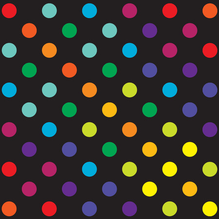 Seamless retro inspired youthful polka dot pattern in candy colors Vector
