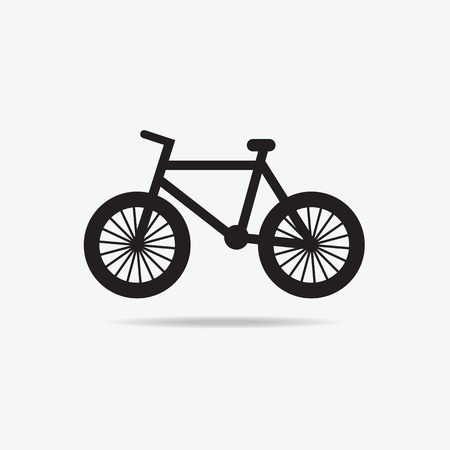 Vector illustration of Simple bicycle icons for used Vector