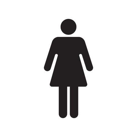 Human female sign icon. Woman Person symbol. Female toilet. Flat style. EPS 10. Vector