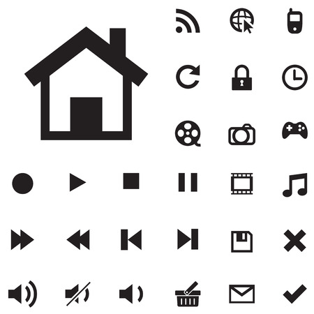 mobile icons: collection of web and mobile icons , for used.