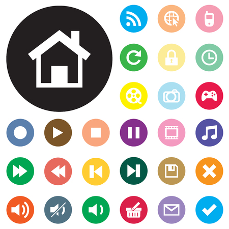 collection of web and mobile icons  Vector