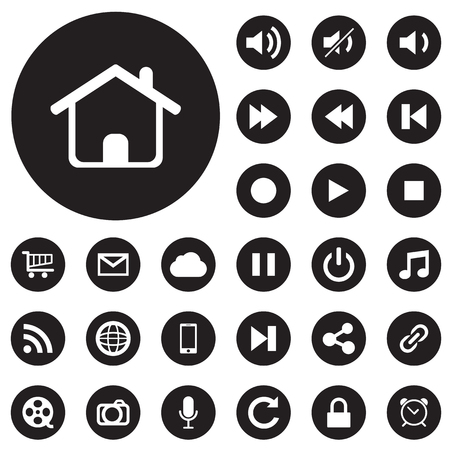 mobile icons: collection of web and mobile icons