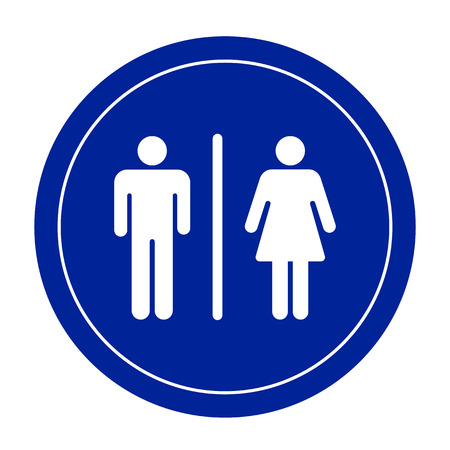 Restroom signs for men and women,vector eps10.