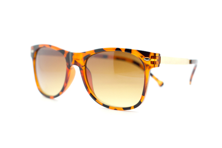 girlie: Isolated Sun glasses on a white background.