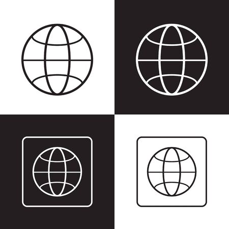 Vector illustration of a web icons-internet for used.Thin line. Vector