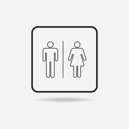 compliant: Male and female sign, vector icon for used.