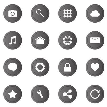 chat window: 16 icons set for web and mobile phone.
