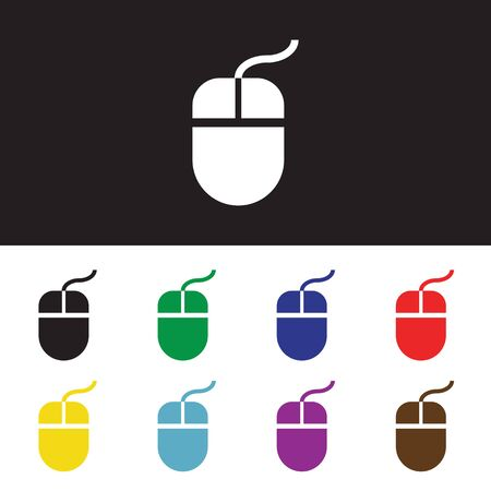 lit collection: Computer mouse icon, vector illustration. Flat design style