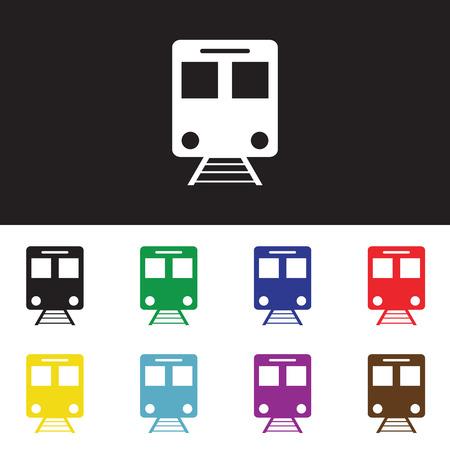 underground: Train, underground, tram isolated icon. Vector illustration.