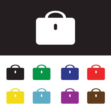 black briefcase: Vector black briefcase icons, vector for used