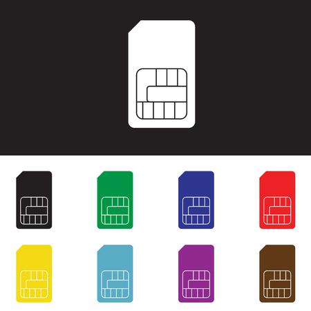 prepaid: SIM vector icon - card for mobile phones symbol