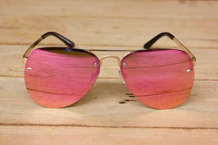 fashion sunglasses. Sunglasses with mirror lenses. Stok Fotoğraf
