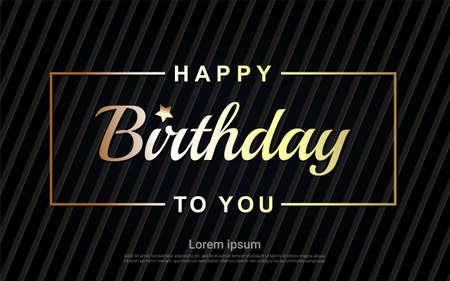 Happy Birthday gold letter
