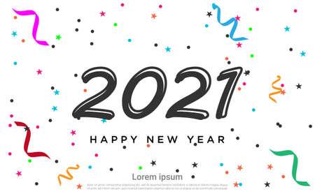 Frohes neues 2021 Jahr bunter Hintergrund