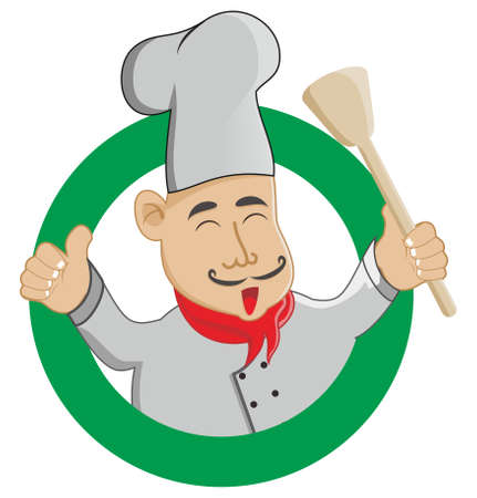 master chef: master chef with hat and spatula
