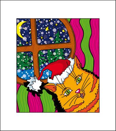 new year orange cat