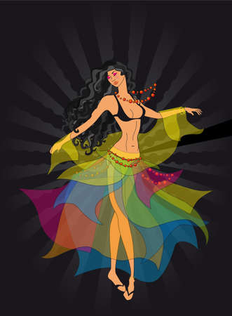a dancing girl-gypsy Stock Vector - 6114487