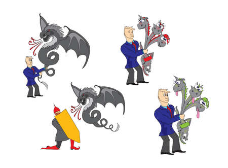 businessman with a dragon