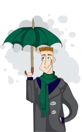 businessman under the umbrella Vector