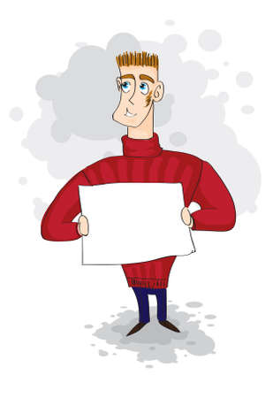 businessman with a sign Illustration