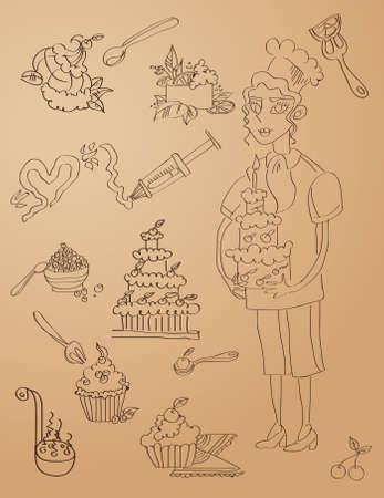 porcion de torta: Fondo