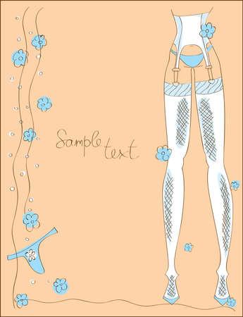legs stockings: illustrazione di Calzemaglie