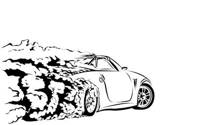 car drift Illusztráció