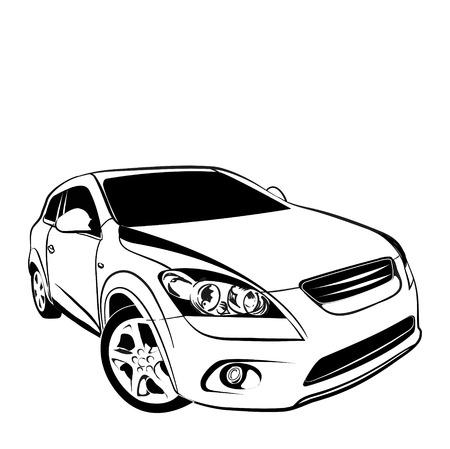 car on white  Illustration