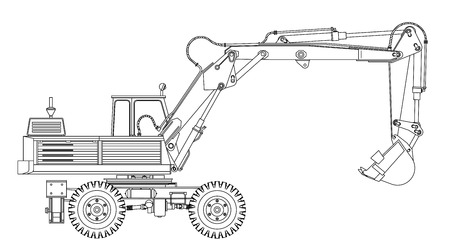 Excavator Illusztráció