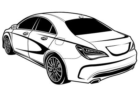 limo: car sedan