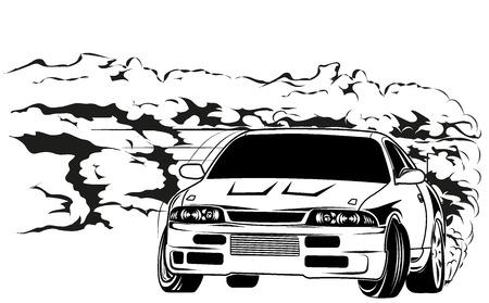 sport car drift Vector