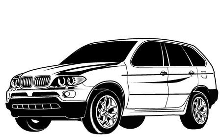 car crossover Vector