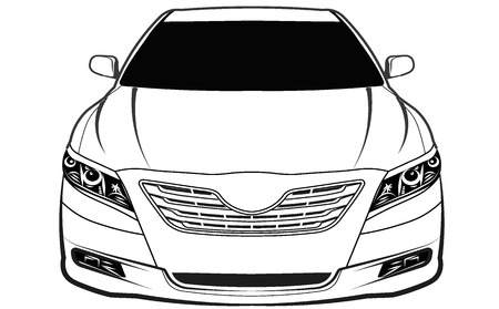 car front view isolated Vector
