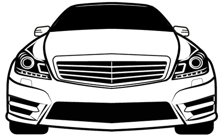 car front view Illustration