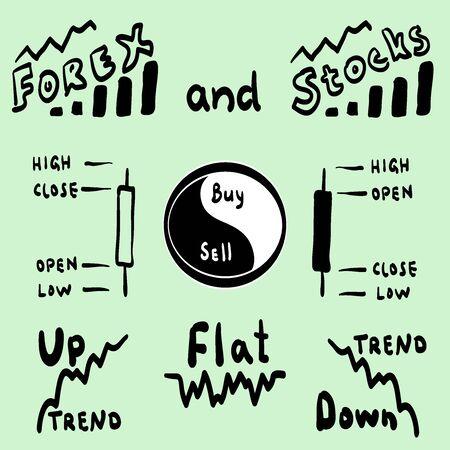 Forex infografik Vektorgrafik