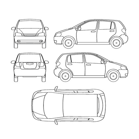 Car line crash isurance protocol Illustration