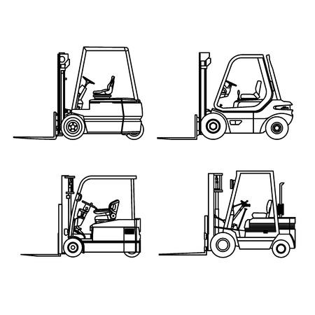 Forklift car line drawing