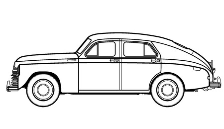 car drawing: car old
