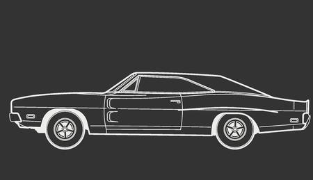 nostalgia: car retro Illustration