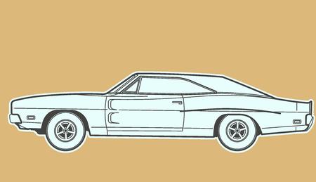car: Car retro  Illustration