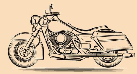 Motorcycle vector illustration Illustration