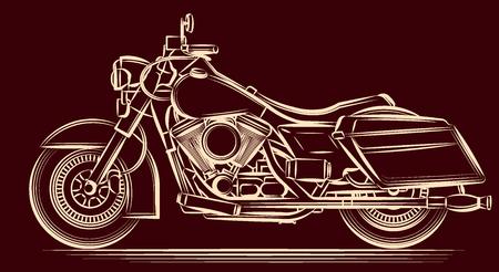 silueta ciclista: motocicleta